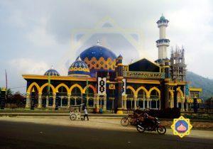 kubah masjid lubuk linggau sumatera selatan